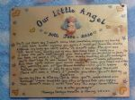 An Angel Never Dies Baby Memorial Wooden Sign Handmade Unique Item Personalised Plaque Miscarriage Stillborn child